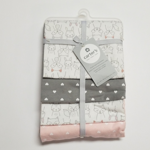 Carter's Other - Carter's Receiving Blanket Set of 4